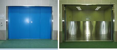 機械室レス荷物用エレベーター